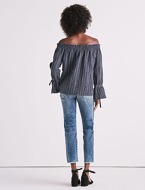 LONG SLEEVE OFF SHOULDER TOP,