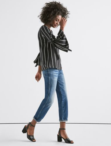 Lucky Stripe Bell Sleeve Top