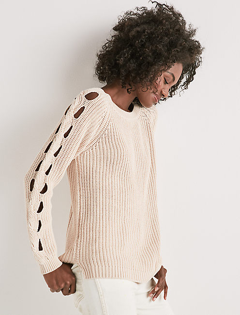 BRAID PULLOVER SWEATER,