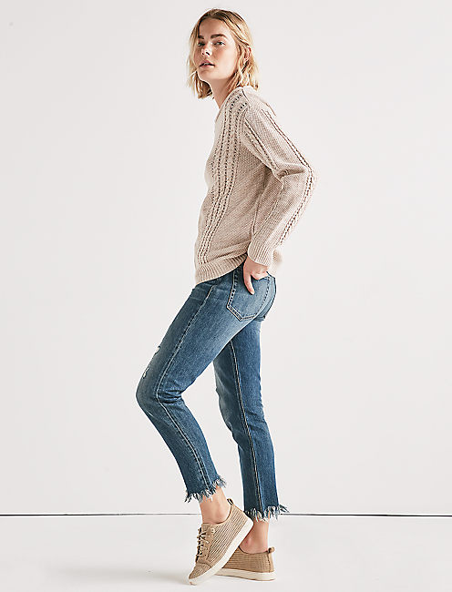 Lucky V Cable Knit Sweater