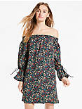 OFF SHOULDER DITSY DRESS,