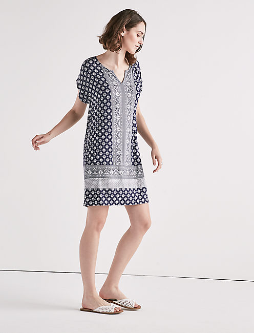 Lucky Border Print Shirt Dress