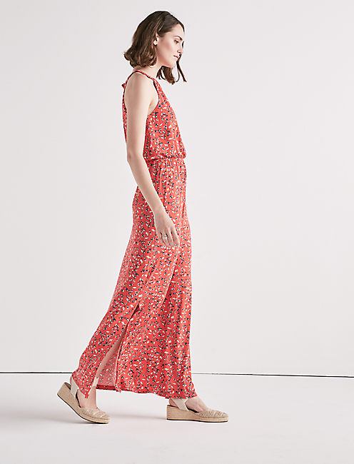 Lucky Knit Floral Maxi Dress