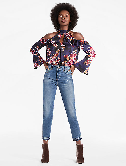 Lucky Cold Shoulder Floral Top