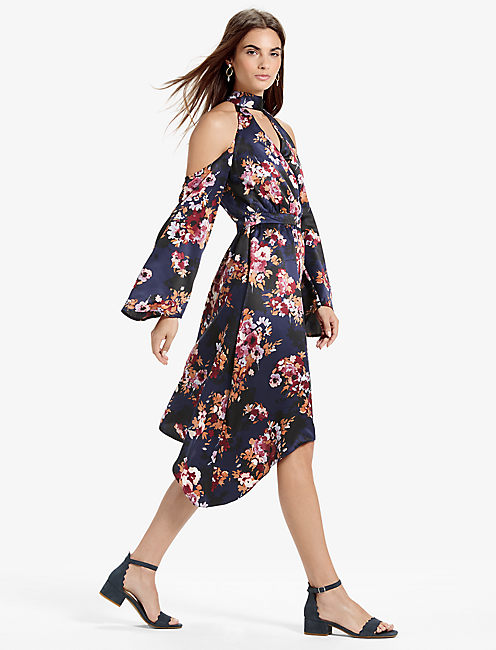 Lucky Cold Shoulder Floral Dress