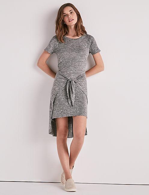 TIE FRONT KNIT DRESS,