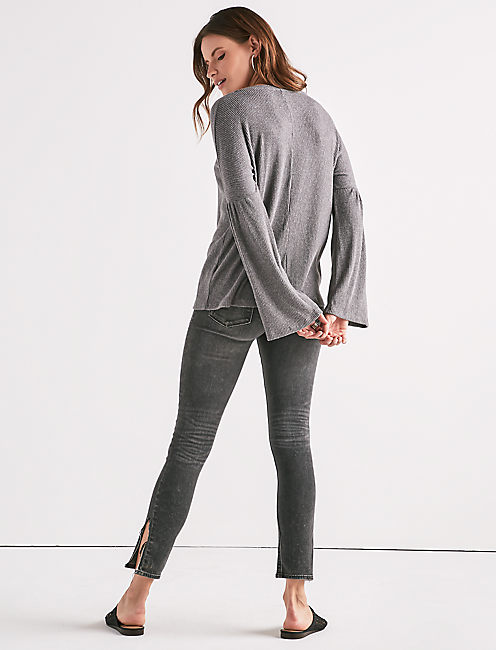 CLOUD JERSEY BELL SLEEVE PULLOVER,