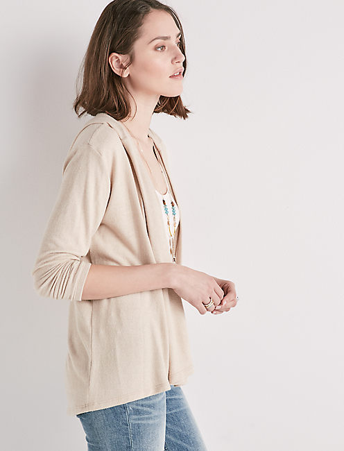 CLOUD JERSEY HOODED CARDIGAN,