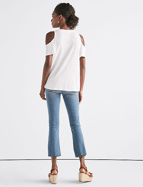 Venice Burnout Cold Shoulder Tee,