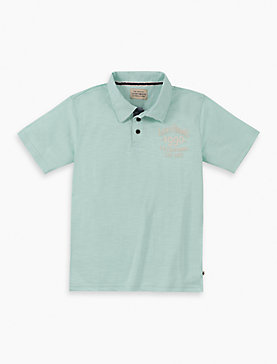 LITTLE BOYS 4/5-7 SS LOGO POLO