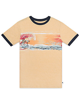 LITTLE BOYS 5-7 S/S RINGER TEE