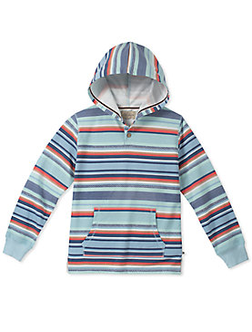 LITTLE BOYS 5-7 STRIPED PRINTED HOODY