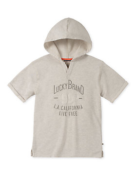 LITTLE BOYS 5-7 S/S HOODY
