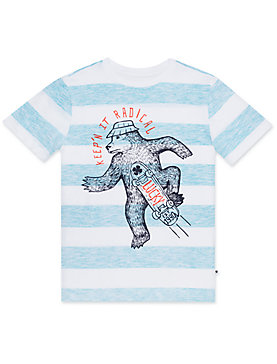 LITTLE BOYS 5-7 S/S REVERSE PRINT TEE