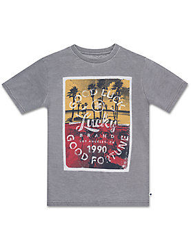 LITTLE BOYS 5-7 S/S BURNOUT TEE