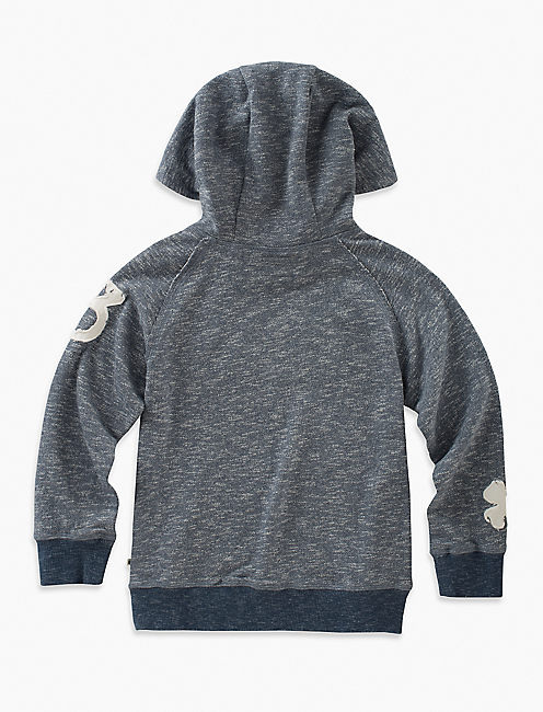 Lucky Long Sleeve Cross-neck Pullover Hoodie