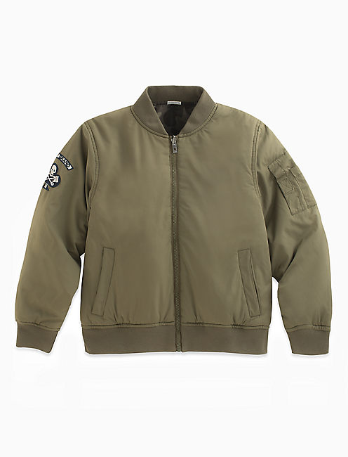 BOMBER REVERSIBLE JACKET, DARK GREEN