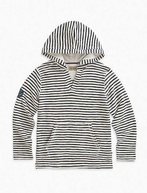 V NECK PRINTED HOODY,