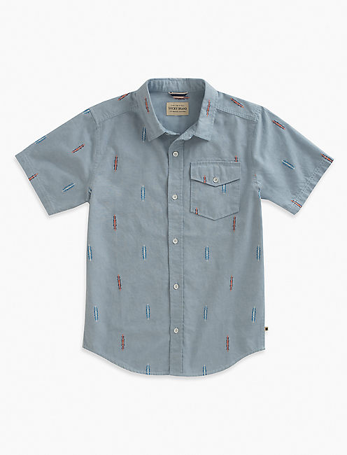 CHAMBRAY SHIRT WITH DOBBY,