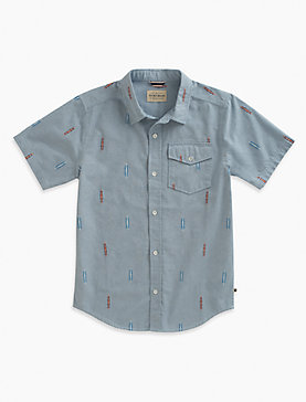 CHAMBRAY SHIRT WITH DOBBY