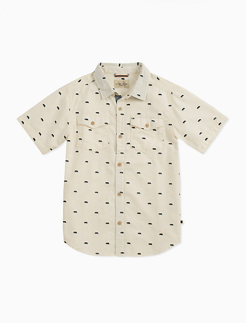 SHORT SLEEVE CONVERSATIONAL PRINT SHIRT,