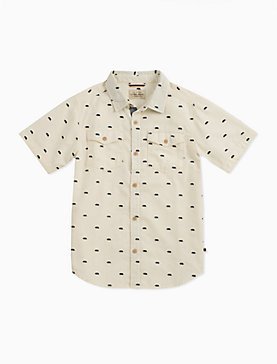 SHORT SLEEVE CONVERSATIONAL PRINT SHIRT