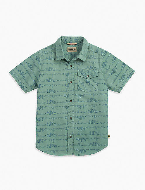 SHORT SLEEVE CONVERSATIONAL PRINT,