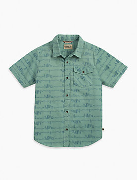 SHORT SLEEVE CONVERSATIONAL PRINT