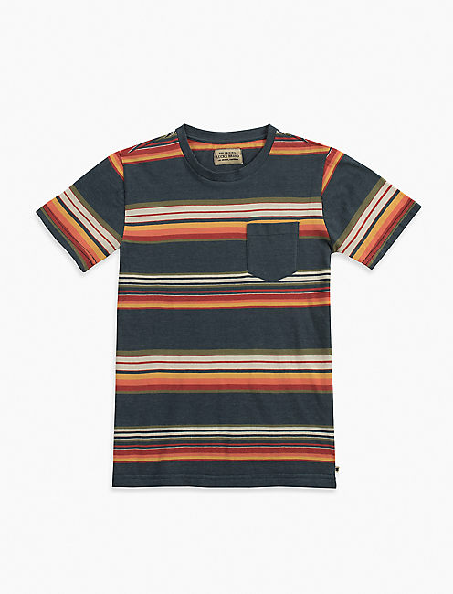 STRIPED POCKET TEE,