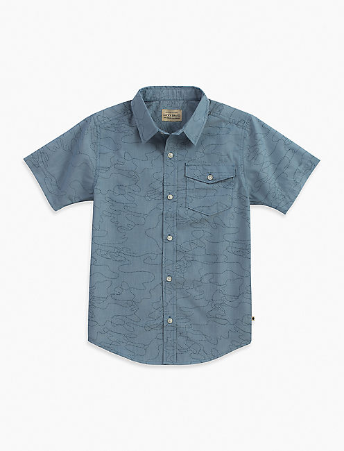 CAMO OUTLINED CHAMBRAY SHIRT,