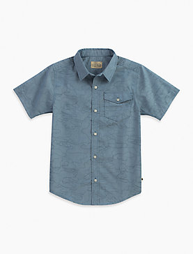 CAMO OUTLINED CHAMBRAY SHIRT