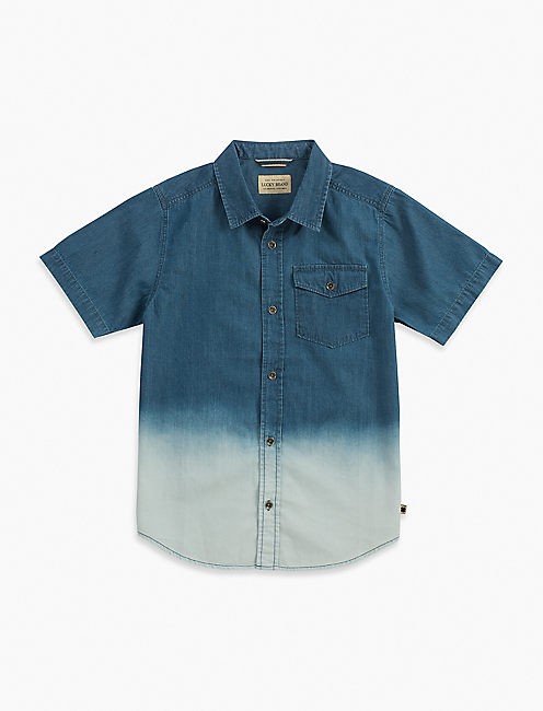 SHORT SLEEVE LT WT DENIM SHIRT WITH,
