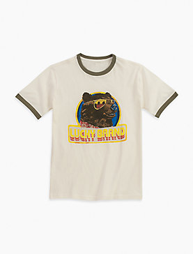 COOL BEAR WITH GLASHORT SLEEVEES TEE