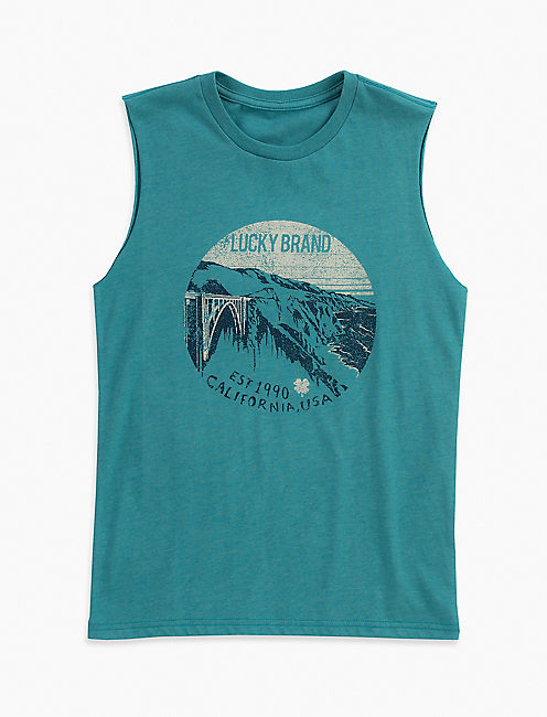 SCENIC MUSCLE TEE,