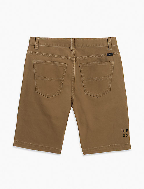 KHAKI TONAL STRETCH TWILL, MEDIUM BROWN