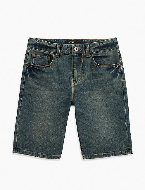 5 POCKET DENIM SHORT, PURPLE