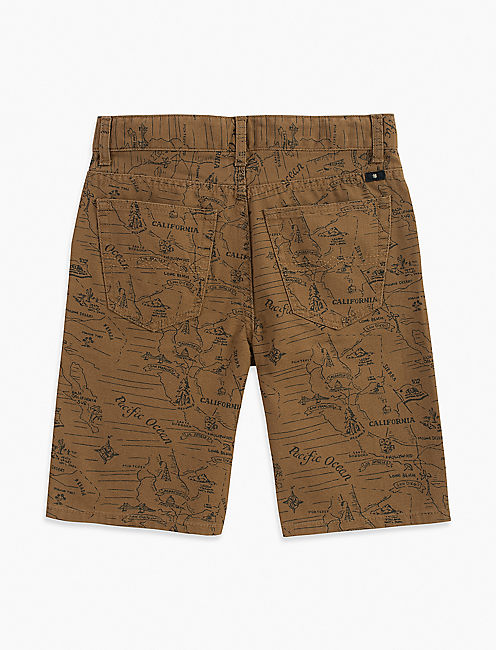 Lucky 5 Pocket Printed Canvas Short