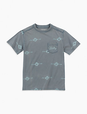 LITTLE BOYS 2T-7 SOUTHWEST POCKET TEE