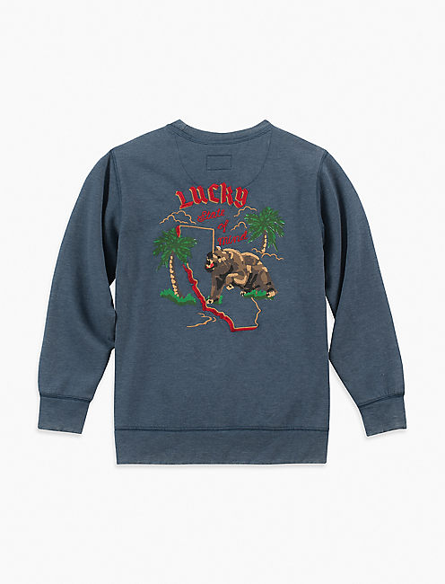Lucky Patches And Chest Graphic Crewneck
