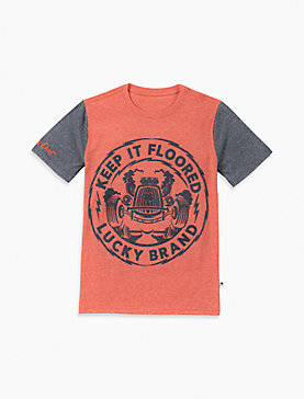 LITTLE BOYS 5-7 KEEP IT FLOORED TEE