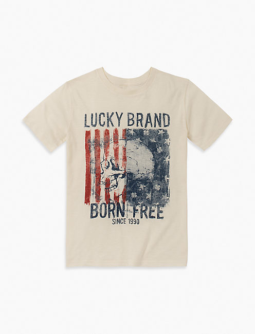 BOYS S-XL BORN FREE TEE,