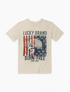 LITTLE BOYS 5-7 BORN FREE TEE