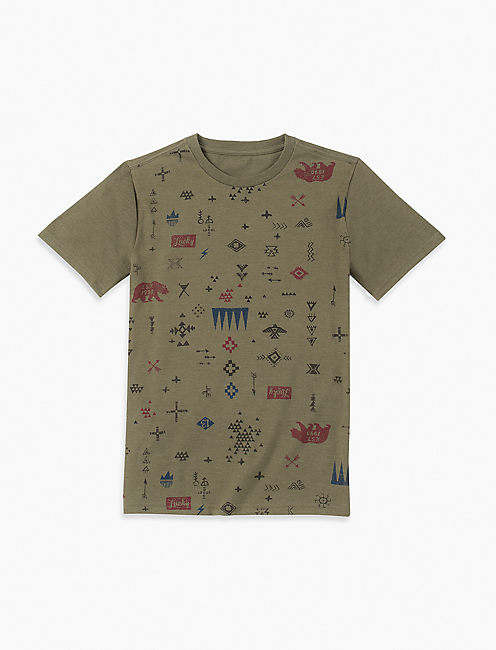 BOYS S-XL PRINTED TEE,