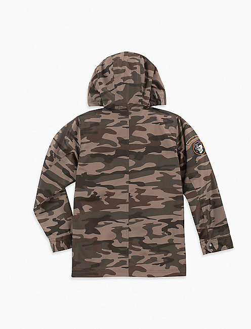Boys S-Xl Utility Camo Jacket