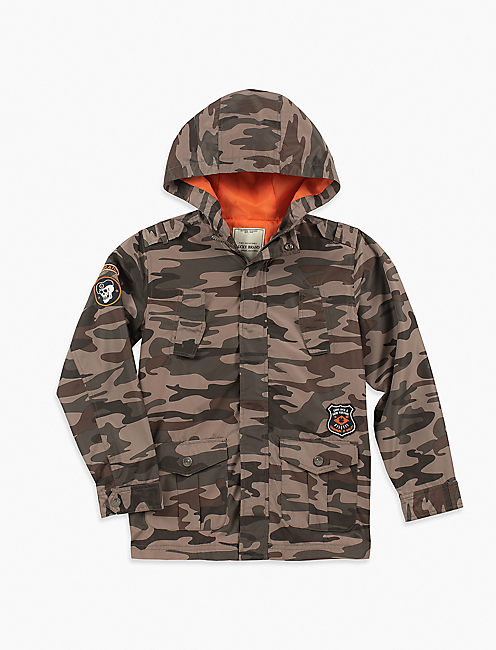 LITTLE BOYS 2T-7 UTILITY CAMO JACKET,