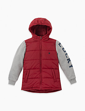 BOYS S-XL MIX MEDIA JACKET WITH MIDWEIGHT POLYFILL