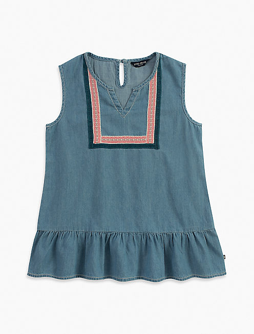 LILLIAN TOP, LIGHT BLUE