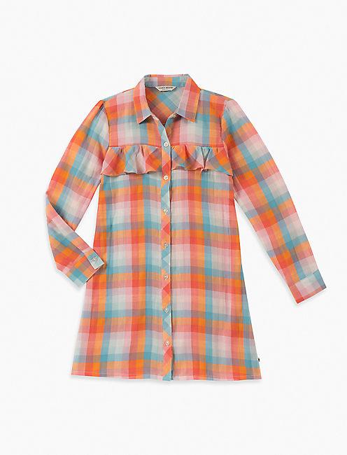 GIRLS S-XL ASTRID PLAID DRESS,