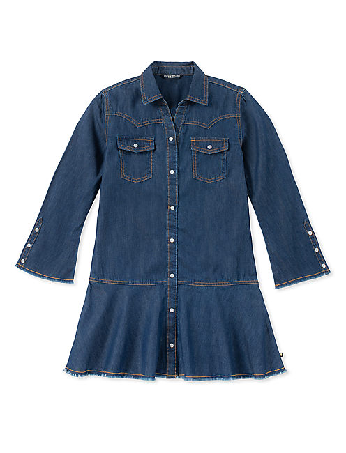 GIRLS S-XL RAE DENIM DRESS,