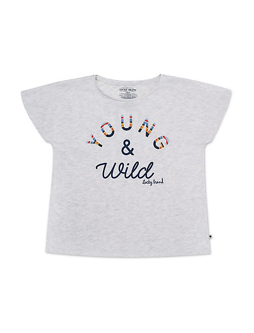 LITTLE GIRLS 5-6X IMALA TEE,